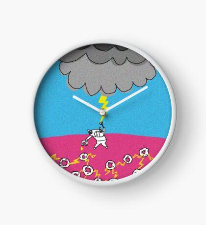 kumaku's donuts electricity Clock