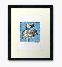Sheep-stack Framed Print