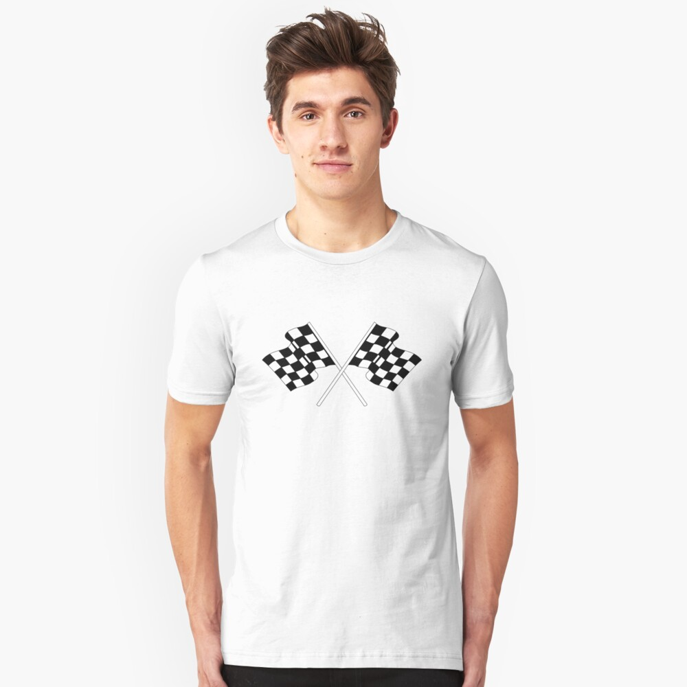 checkered flag Unisex T-Shirt Front