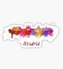 Madrid V2 skyline in watercolor Sticker