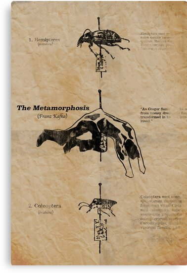 The Metamorphosis By Franz Kafka Canvas Prints By Votech Redbubble