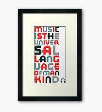 Music Universal Language Framed Print