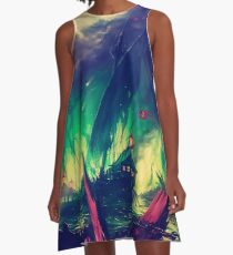 BlackWater Wildfire  A-Line Dress