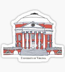 University of Virginia Rotunda color Sticker