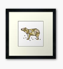 Polar bear. Scandinavian style. Framed Print
