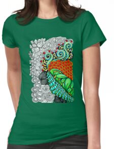 Colorful zen doodle.  Womens Fitted T-Shirt