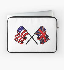 US & UK Crossed Flags Laptop Sleeve