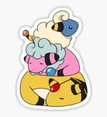 Mareep Snuggle Pile Sticker