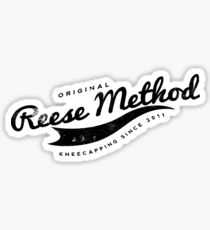 Person of Interest - Original Reese Method of Kneecapping (black lettering) Sticker