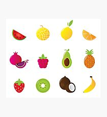 Redbubble fruit Edition : Fruit on white Photographic Print