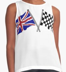 Crossed flags - Racing and Great Britain Contrast Tank