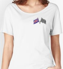 Crossed flags - Racing and Great Britain Women's Relaxed Fit T-Shirt
