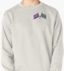 Crossed flags - Racing and Great Britain Pullover