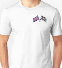 Crossed flags - Racing and Great Britain Unisex T-Shirt