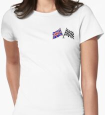 Crossed flags - Racing and Great Britain Women's Fitted T-Shirt