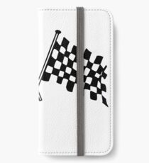 Crossed flags - Racing and Great Britain iPhone Wallet/Case/Skin