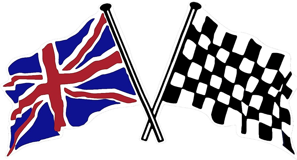 Crossed flags - Racing and Great Britain by JustBritish