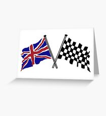 Crossed flags - Racing and Great Britain Greeting Card