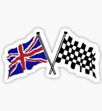 Crossed flags - Racing and Great Britain Sticker