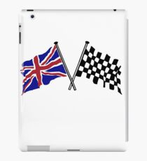 Crossed flags - Racing and Great Britain iPad Case/Skin