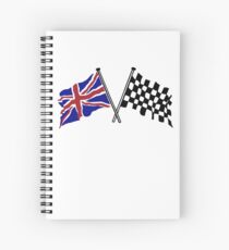 Crossed flags - Racing and Great Britain Spiral Notebook