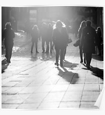 Pedestrians in Helsinki Poster