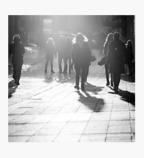 Pedestrians in Helsinki Photographic Print