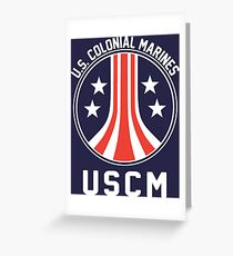 USCM US Colonial Marines Greeting Card