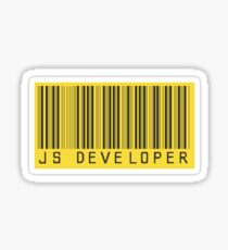 JS developer Sticker
