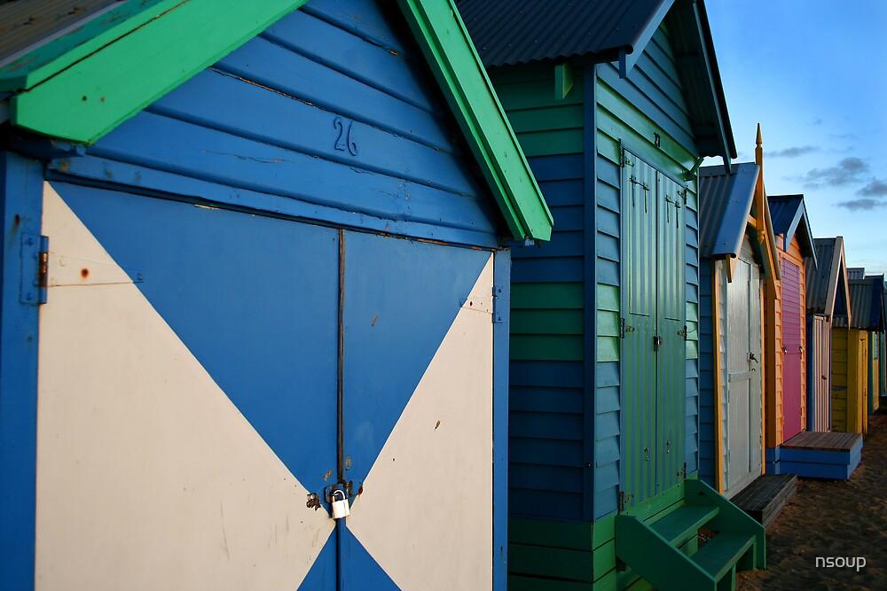 Beach Huts, Brighton, Victoria by nsoup