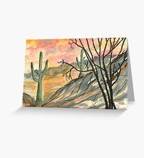 Arizona Evening Greeting Card