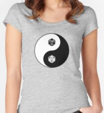 Yin Yang d20 Dungeons and Dragons Dice RPG Tee Women's Fitted Scoop T-Shirt