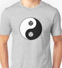 Yin Yang d20 Dungeons and Dragons Dice RPG Tee T-Shirt