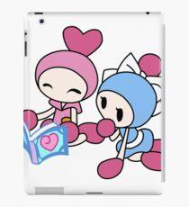 Pink Bomberman + Cyan Bomberman - Super Bomberman R iPad Case/Skin