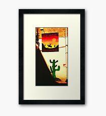 Mexican restaurant Framed Print