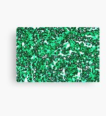 Green and White Noise Canvas Print