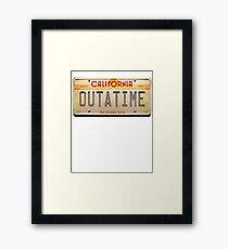 BACK TO THE FUTURE OUTATIME Framed Print