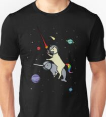 Llamacorn Riding Narwhal In Space Unisex T-Shirt
