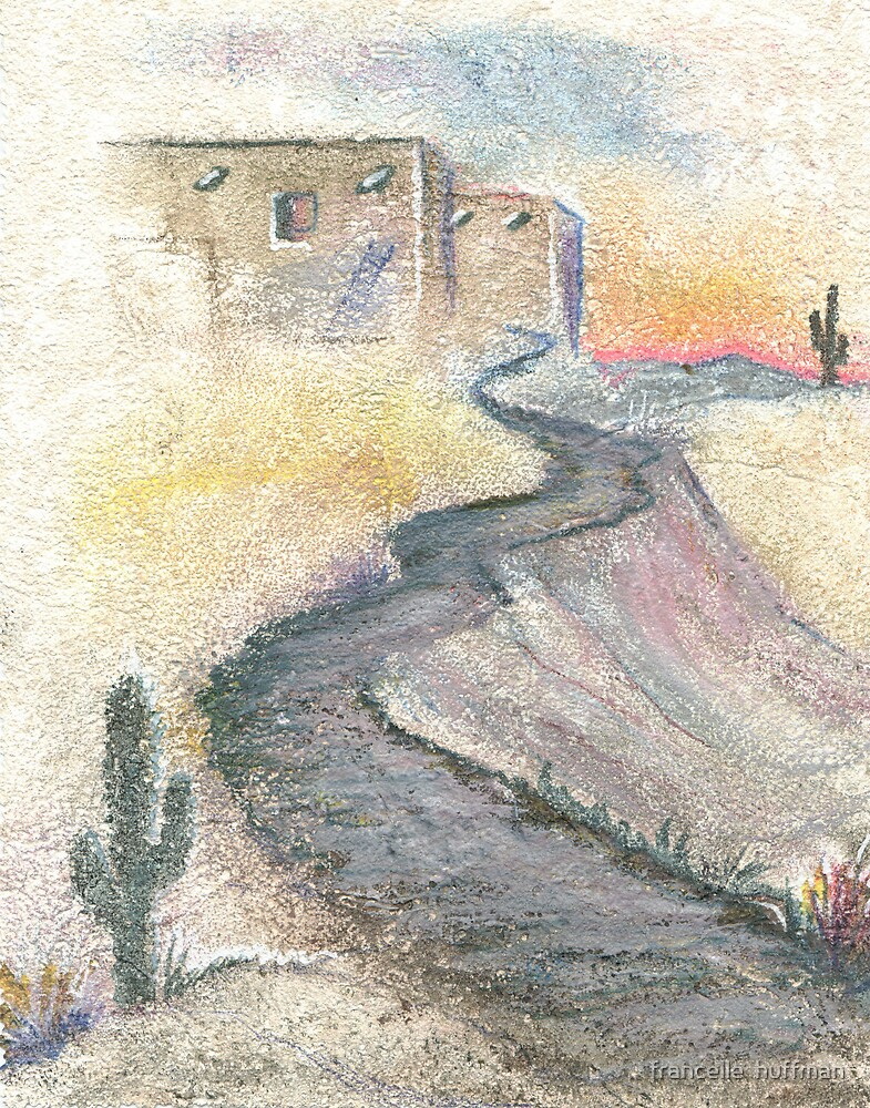 SOUTHWEST STUCCO AND PATH by francelle  huffman