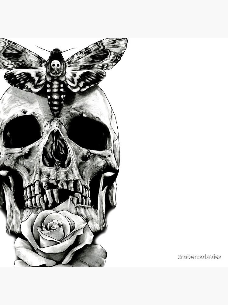 TÄTOWIERUNG - Schmetterling auf Schädel von xrobertxdavisx
