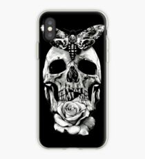 TATTOO - Butterfly on skull iPhone Case