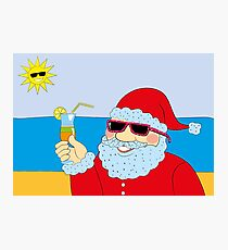 Funny Santa Claus Photographic Print