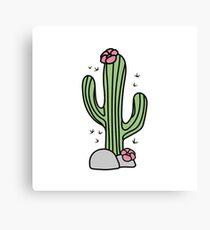 Cute cactus. Hug me! Canvas Print