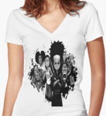 The Boondocks Women's Fitted V-Neck T-Shirt
