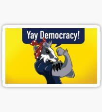 Yay Democracy Stickers - Yellow Sticker