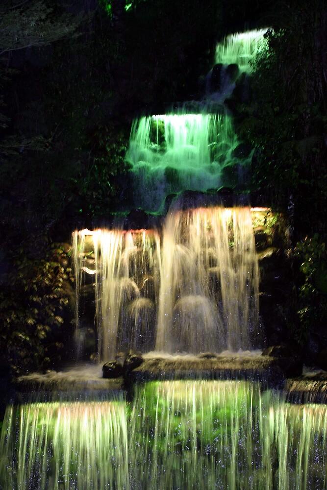 Waterfall at night 2 by Danielle Kennedy Boyd