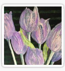 Tulip purple patch Sticker