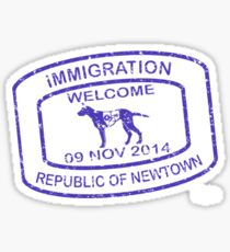 Republic of Newtown - 2014: Blue Sticker
