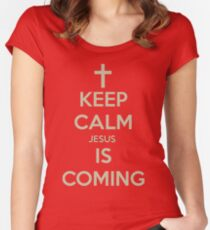 Keep Calm Jesus Women's Fitted Scoop T-Shirt