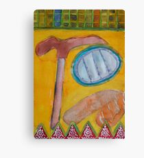 Still Life with Hammer on Yellow  Canvas Print